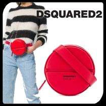 D SQUARED2 Casual Style Plain Leather Shoulder Bags