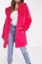 ASOS Faux Fur Plain Long Cashmere & Fur Coats
