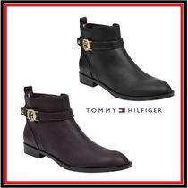 Tommy Hilfiger Casual Style Plain Leather Block Heels Office Style