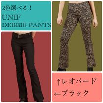 UNIF Clothing Leopard Patterns Casual Style Plain Cotton Long Skinny Pants