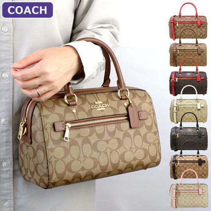 Coach Rowan Satchel In Signature Canvas