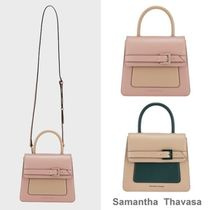 Samantha Thavasa 2WAY Leather Office Style Elegant Style Handbags