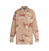 Louis Vuitton Camouflage Monogram Long Sleeves Cotton Shirts