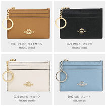 Coach Leather PVC Clothing Logo Card Holders