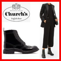 Church's Rubber Sole Plain Leather Elegant Style