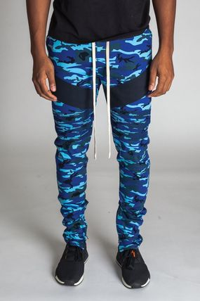 Printed Pants Camouflage Unisex Street Style Patterned Pants