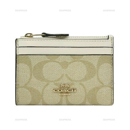 Coach Mini Skinny Id Case With Painted Cherry Print