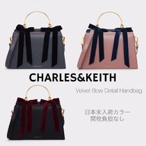 Charles&Keith Casual Style Suede Faux Fur Blended Fabrics 2WAY Plain