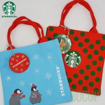 STARBUCKS Casual Style Unisex Canvas Collaboration Totes