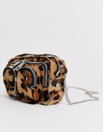 Leopard Patterns Casual Style Leather Crossbody