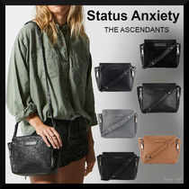 STATUS ANXIETY Casual Style Plain Shoulder Bags