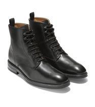 Cole Haan Plain Toe Plain Leather Boots