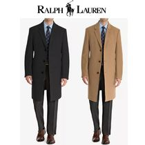 Ralph Lauren Wool Cashmere Plain Long Chester Coats