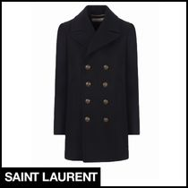 Saint Laurent Wool Peacoats