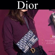 Christian Dior DIOR OBLIQUE Monogram Casual Style Canvas Street Style Handmade
