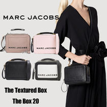 MARC JACOBS Box Bag Casual Style Unisex Vanity Bags Plain Leather Party Style