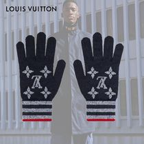 Louis Vuitton MONOGRAM Stripes Monogram Wool Gloves Gloves