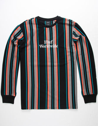 HUF More T-Shirts Stripes Street Style Tie-dye Long Sleeves
