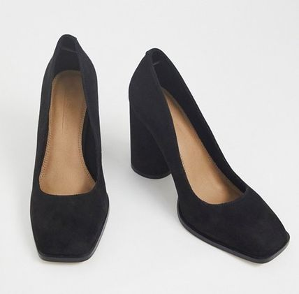 ASOS Casual Style Faux Fur High Heel Pumps & Mules