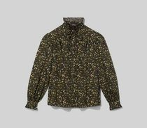 MARC JACOBS Flower Patterns Casual Style Puffed Sleeves Street Style