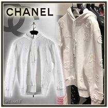 CHANEL Short Long Sleeves Cotton Cropped