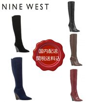 Nine West Suede Plain Leather Party Style Wedge Boots