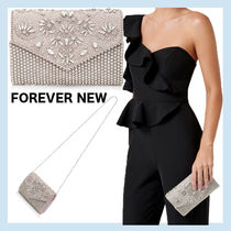 FOREVER NEW 2WAY Chain Plain Party Style With Jewels Elegant Style