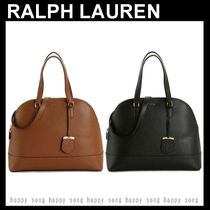 Ralph Lauren Casual Style 2WAY Plain Leather Office Style Elegant Style