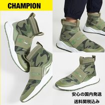 CHAMPION Camouflage Platform Round Toe Rubber Sole Casual Style