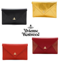 Vivienne Westwood Casual Style Plain Leather Clutches