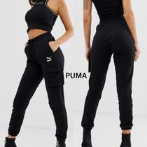 PUMA Casual Style Sweat Street Style Plain Cotton Sweatpants