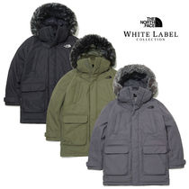 THE NORTH FACE Unisex Fur Street Style Plain Oversized Parkas