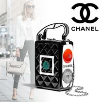 CHANEL Chain Party Style With Jewels Elegant Style Party Bags