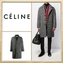 CELINE Stand Collar Coats Plain Long Coats