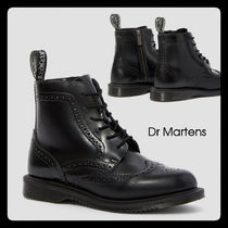 Dr Martens Lace-up Casual Style Unisex Plain Leather Lace-up Boots