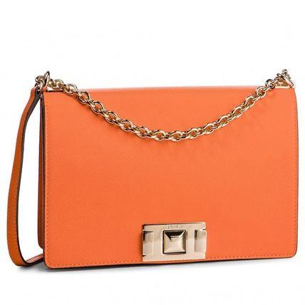Casual Style 2WAY Plain Leather Party Style Shoulder Bags