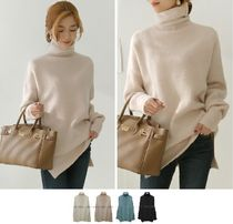 Casual Style Long Sleeves Plain Long Office Style