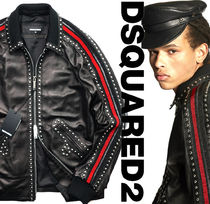 D SQUARED2 Leather Long Chester Coats