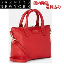 Barneys New York Unisex Street Style 2WAY Plain Leather Elegant Style