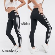 adidas Stripes Casual Style Street Style Cotton Long Skinny Pants