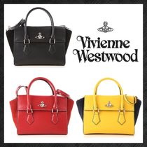 Vivienne Westwood Casual Style Suede 2WAY Plain Leather Office Style