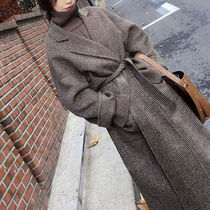 Glen Patterns Casual Style Long Elegant Style Wrap Coats