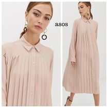 ASOS Casual Style Long Sleeves Plain Long Dresses