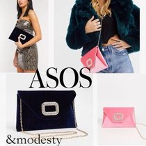 ASOS 2WAY Chain Plain Party Style Elegant Style Clutches