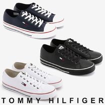 Tommy Hilfiger Unisex Blended Fabrics Street Style Plain Sneakers