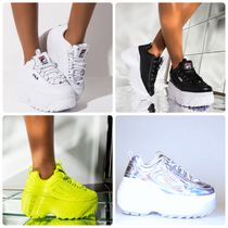 FILA Casual Style Street Style Plain Low-Top Sneakers