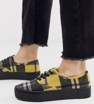 MONKI Gingham Tartan Other Check Patterns Casual Style