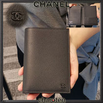 CHANEL ICON Unisex Plain Leather Wallets & Small Goods