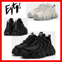 Eytys Unisex Street Style Plain Leather Sneakers