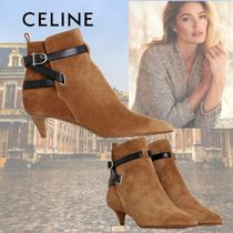 CELINE Casual Style Suede Plain Leather Elegant Style